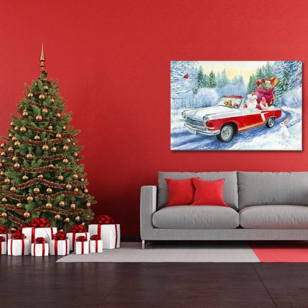 Χριστουγεννιάτικοι Πίνακες σε καμβά