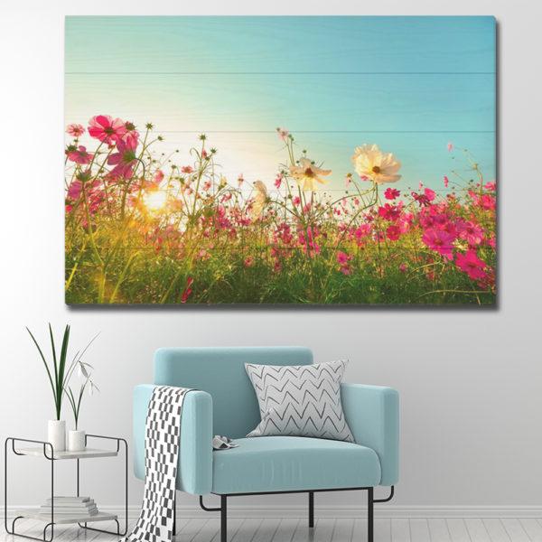 Πίνακες σε Ξύλινες Τάβλες - Flowers