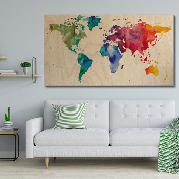 Πίνακες σε Kόντρα Πλακέ Θαλάσσης - Χάρτες