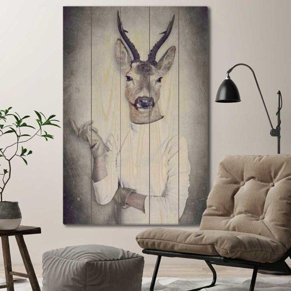 Πίνακες σε Ξύλινες Τάβλες με Animal Portraits