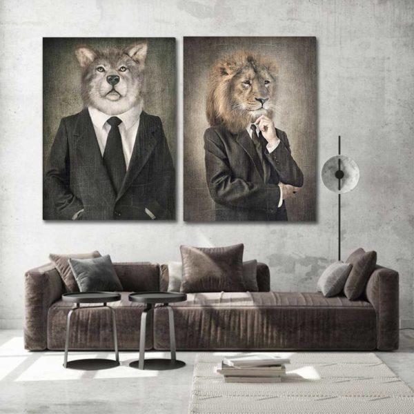 Πίνακες σε καμβά με Animal Portraits