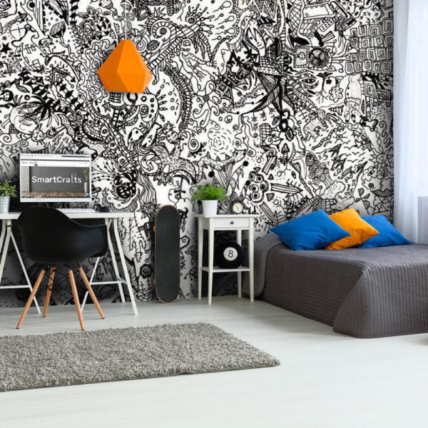 Ταπετσαρίες - Black & White Street-Art