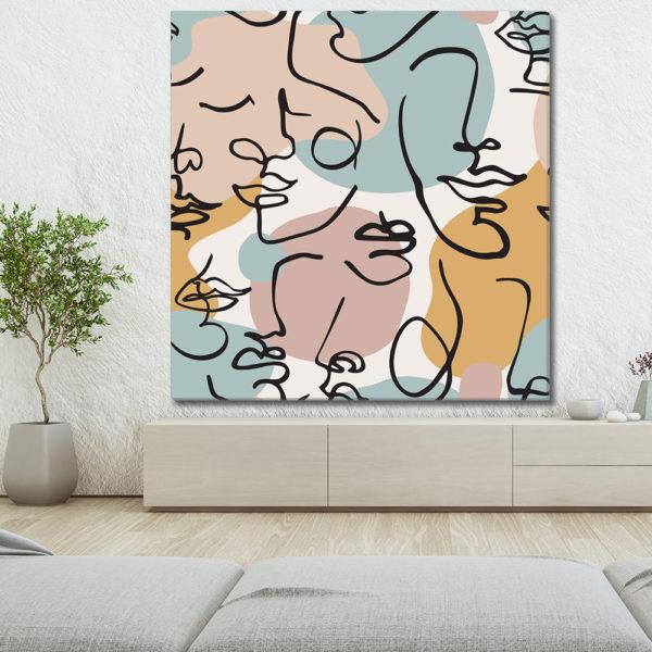 Πίνακες σε καμβά με Minimal & Line Art