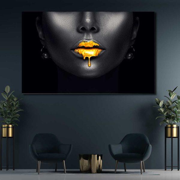 Πίνακες σε καμβά με Lips